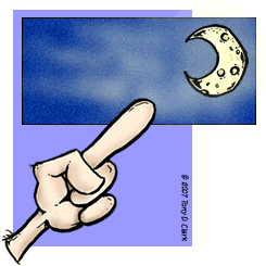 Finger Pointing To the Moon